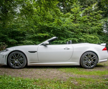 Jaguar XKR-S Convertible Side White
