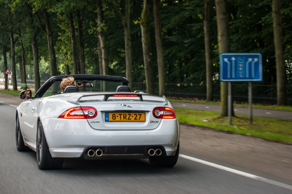 Jaguar XKR-S Convertible Rear White